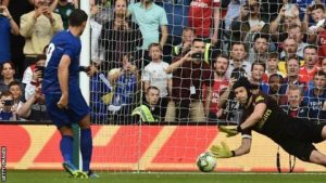 Arsenal 1-1 Chelsea: Petr Cech saves crucial penalty as Gunners win shootout