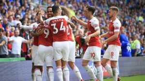 Alexandre Lacazette scores in season's first start as Arsenal hold off Cardiff City