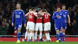 Mesut Ozil pulls the string as Arsenal rally for win against Leicester City