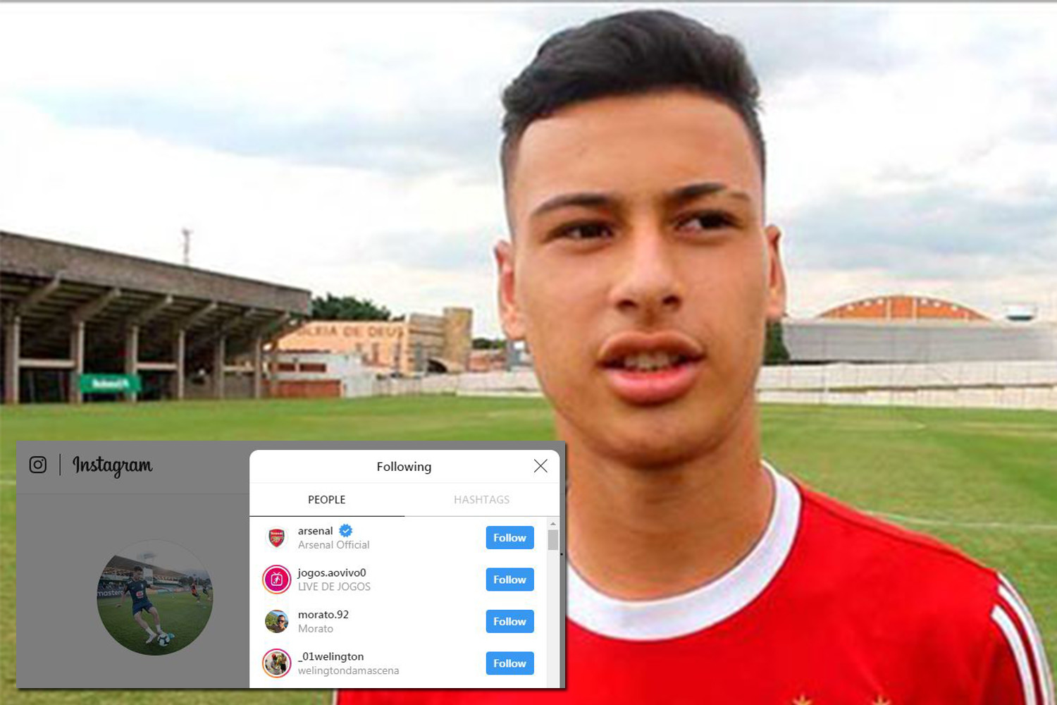 Gabriel Martinelli has followed Arsenal on Instagram and is now close to completing his move to the club