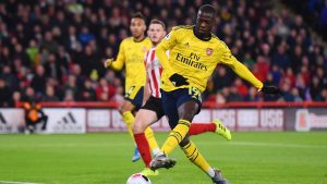 Arsenal boss Emery reacts to Pepe's missed chance in Sheffield United defeat