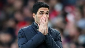 Arteta: It will be very hard for Arsenal to finish in top four