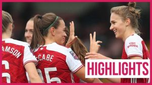 Watch: Miedema eclipses WSL goals record as Arsenal thrash Spurs