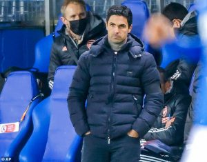Arsenal's flight home to London is CANCELLED due to foggy weather, leaving Mikel Arteta and his squad stuck in Norway for another night after Europa League win over Molde