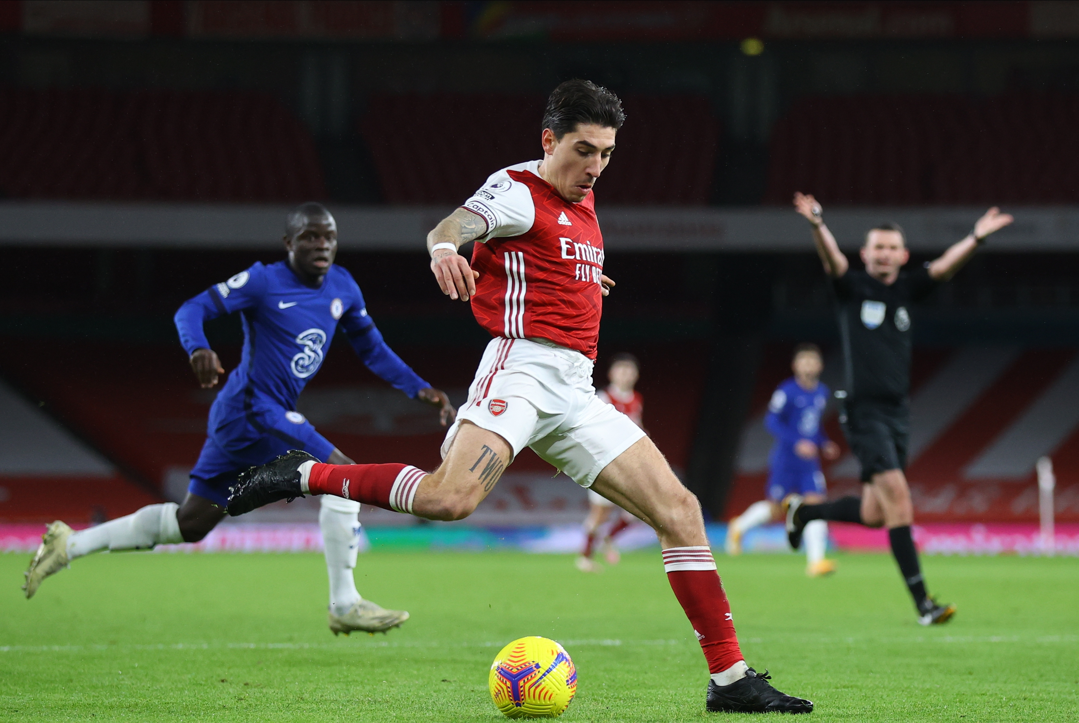 The Gunners may be forced into a fight with Barcelona over Hector Bellerin