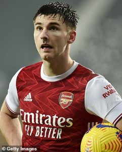 Napoli 'have Arsenal defender Kieran Tierney on a list of long-term transfer targets'
